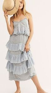 """Free People striped """"Vacation Now"""" skirt & top set"""